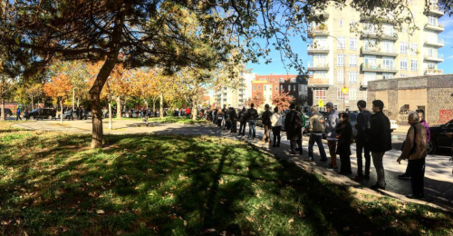 Greenpointers waiting in line to vote in November 2016. Photo: Julia Moak