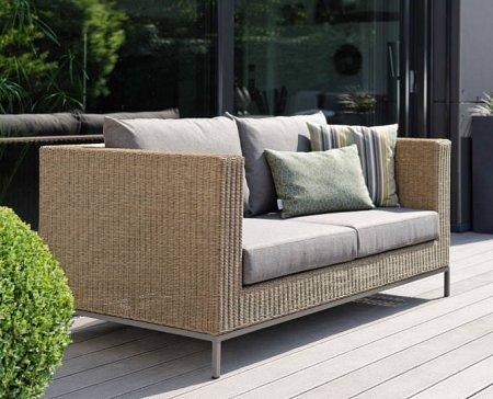 Technorattanowa sofa Fontana aluminium 2 i 3 osobowa