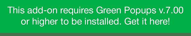 Side Tabs - Green Popups Add-On