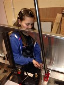 Lydia fitting the roll over bar