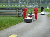 Pit lane entry chain reaction followed in by Rotary racer