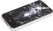 iPhone with Cracked Screen