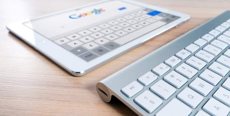 Google on iPad with Apple Keyboard