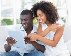 Couple on Tablet