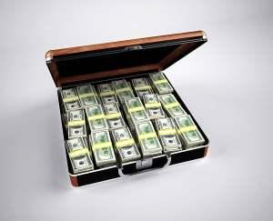 Hundred Dollar Bills in Briefcase