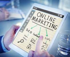 Online Marketing Steps on iPad