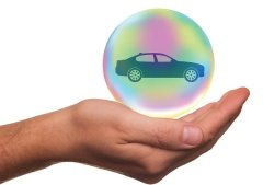 Hand Cupping Car Globe - Insurance