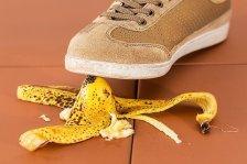 Foot Stepping on Banana Peel