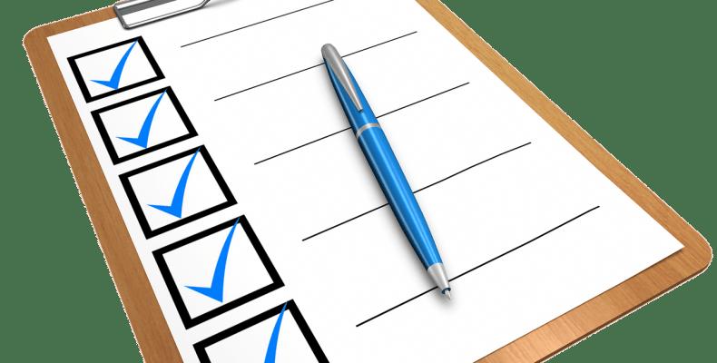Checklist Clipboard