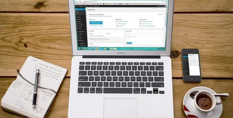 Laptop with Wordpress Admin