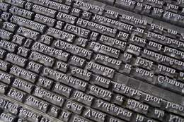Font Letterpress