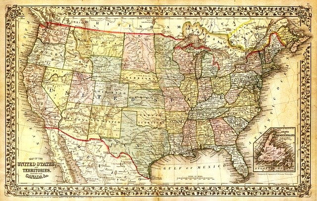 Historical United States Map