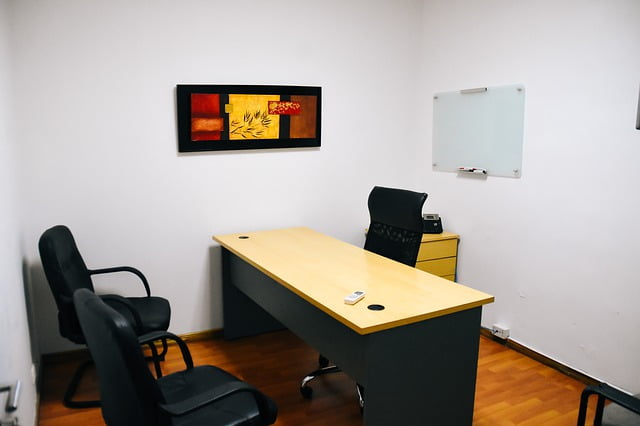 Small Office with Desk and Chairs