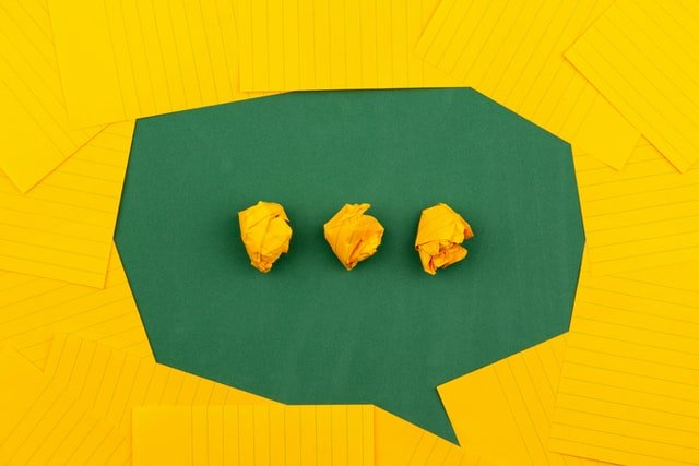 Messaging Icon Made With Crumpled Paper
