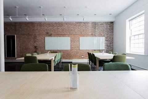 Office Meeting Room Brick Wall