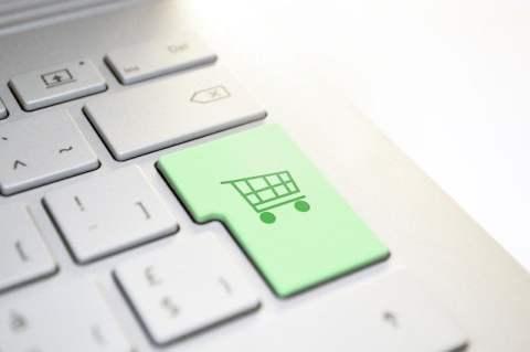 Shopping Cart Key on Keyboard