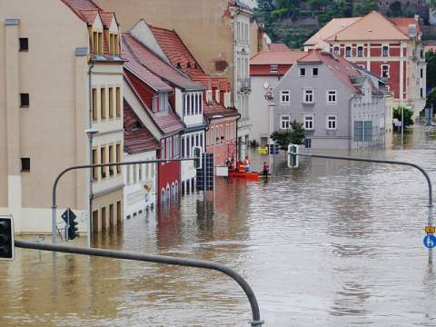 Flooded Streets and Buildings