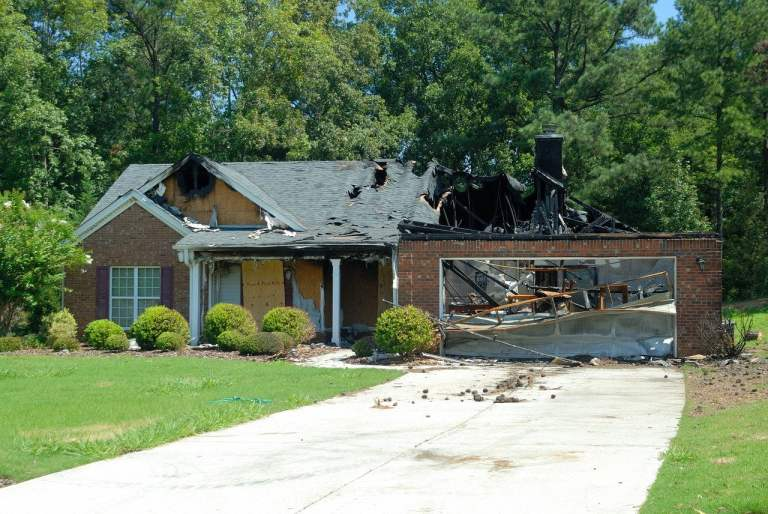 Home Destroyed by Fire
