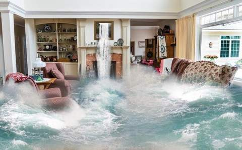 Surreal Living Room Flooding