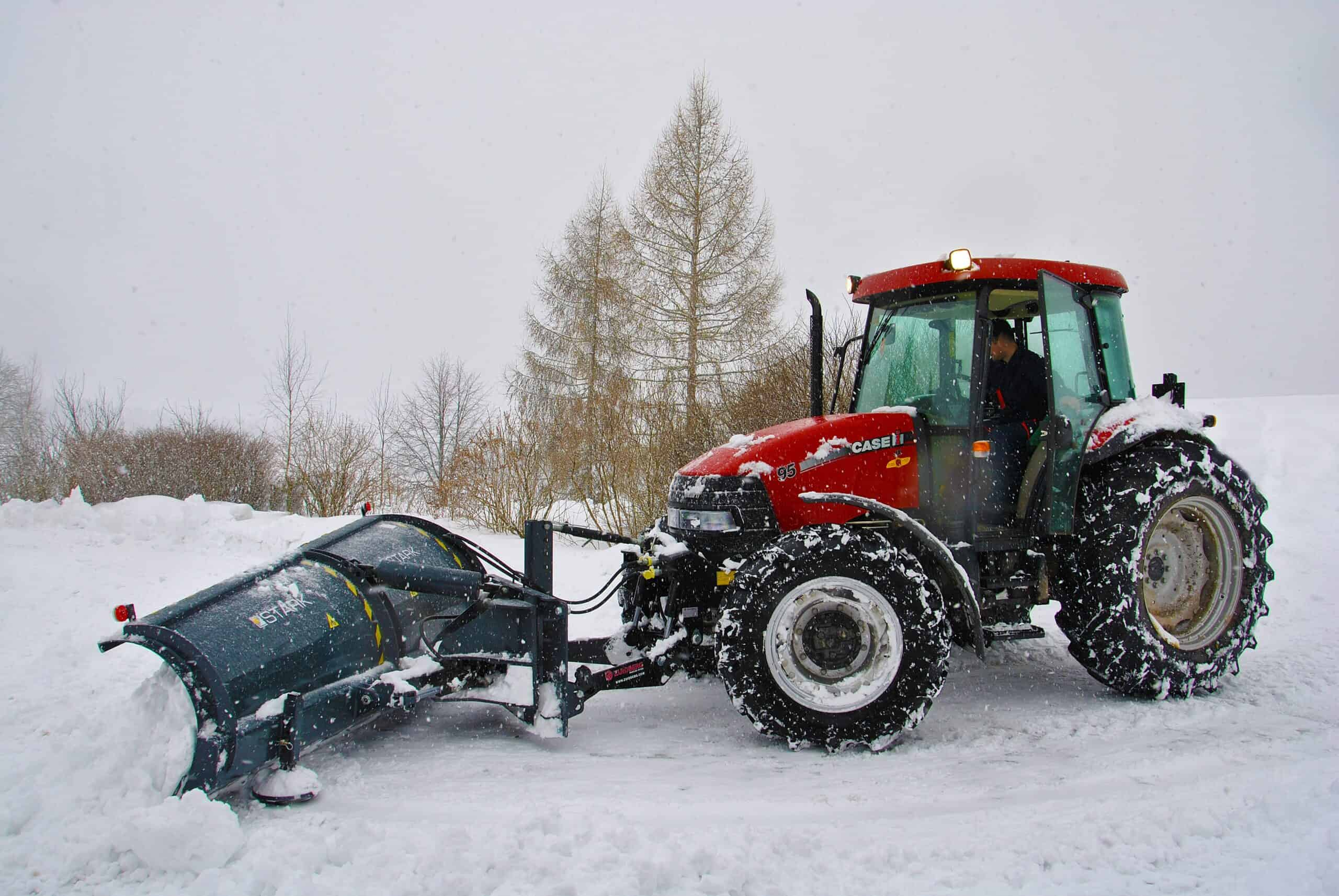 tractor, snow, cleaning snow