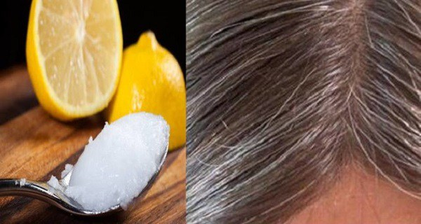 coconut oil lemon and gray hair