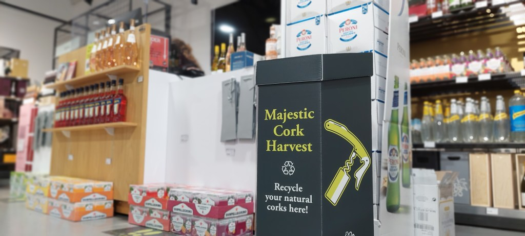 Majestic Wine's in-store recycling scheme for used natural cork