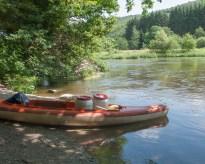 Canoeing on the Semois river,