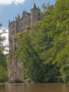 Chateau Walzin on the Lesse river, Ardennes, Belgium