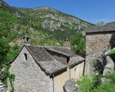 In the village of Hauterives above the Tarn river, Tarn, France