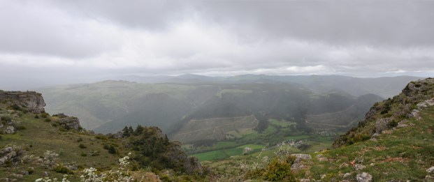 A view from the Cause down to the Tarnon Valley below, Tarn, France