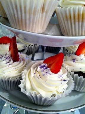 Delicious Homemade cream cheese filled cupcakes