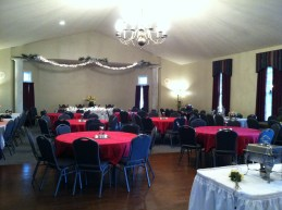 Green River Plantation Gate House setup for event