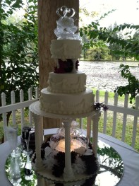 Three-Tier Cake Green River Plantation Outdoor Pavilion Reception