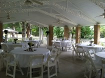 Pavilion Wedding Reception Setup Green River Plantation