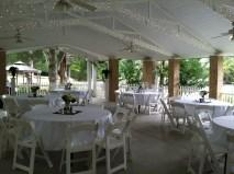 Pavilion Wedding Reception Setup Green River Plantation