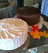 Pumpkin Spice & Chocolate Cream Filled Cakes