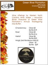 GRMBV TD 2014 Wine Offerings