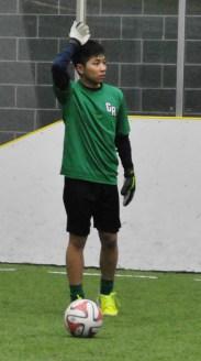 Phat preparing for a free kick