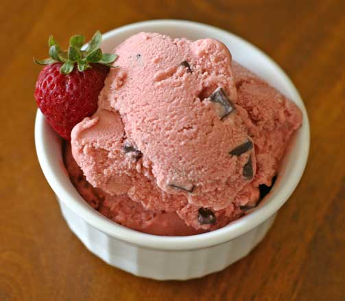 The Best Vegan Strawberry Chocolate Chip Ice Cream