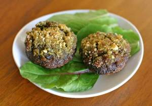 Perfect Appetizer: Pesto Stuffed Mushrooms