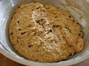 Healthy Vegan Peanut Butter Banana Chocolate Chip Muffin Batter