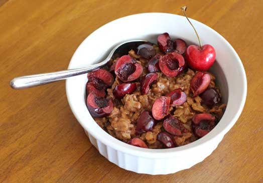Vegan Chocolate Cherry Oatmeal