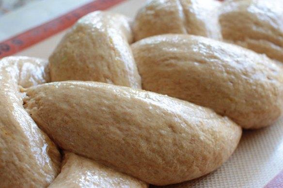 Vegan Challah Bread with Shiny Egg Wash