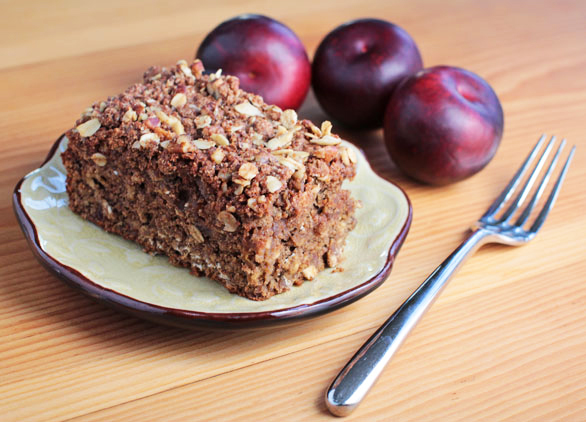 Homemade Vegan Cinnamon Plum Coffee Cake