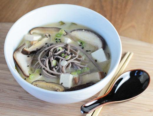 Vegan Miso Soba Noodle Soup