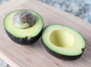 avocado for our vegan matcha green smoothie