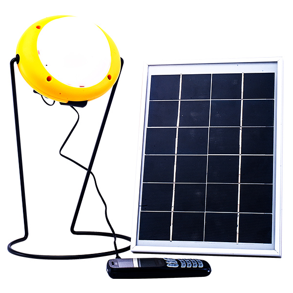 The Sun King Pro 400, after charging with a 12W solar panel, provides bright lighting to three rooms for your family or business, while the power hub charges your phones and appliances