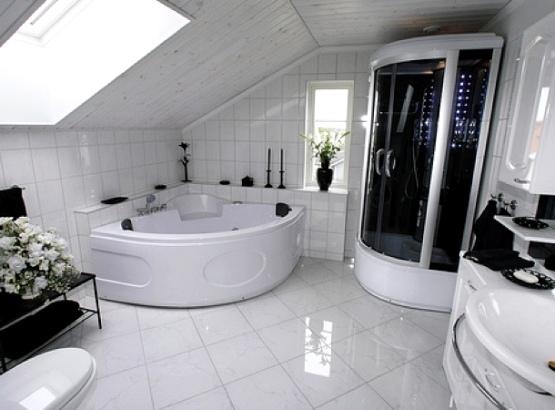 ванная комната с душевой кабиной в частном доме дизайн фото 3