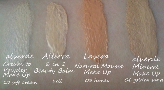 lavera natural mousse make up swatch .