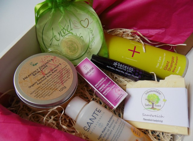 vegan box beauty April 2015 Inhalt